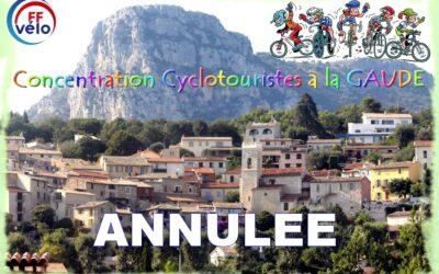 Annulation Concentration Cyclos à la Gaude 2021